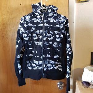 Lululemon scuba cloud print zip front jacket